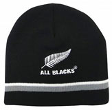 All Blacks Beanie Silver Stripes
