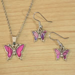 Butterfly Necklace Earrings