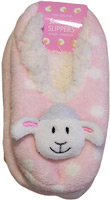 Pink Sheep Fleece Slippers