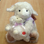 Soft Toy Sheep Mother & Baby Lilac