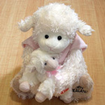 Soft Toy Sheep Mother & Baby Pink