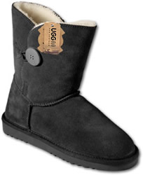 Short Button Boot Black