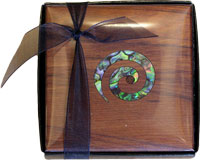 4 pack Coasters with Paua Koru