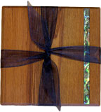 2 pack Coasters with Paua Strip