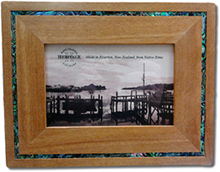 6x4 Rimu Photo Frame with Paua Surround
