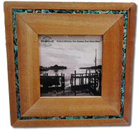 4x4 Rimu Photo Frame with Paua Surround